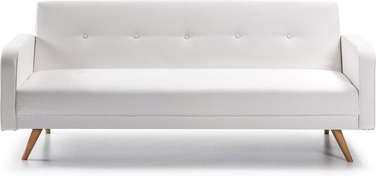 Moderne Witte Slaapbank.Laforma Bedbank Roger 3 Zits Wit La Forma